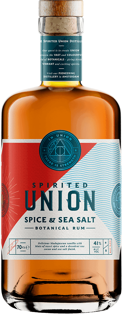 70 cl bottle of Spirited union distillery Spice & Sea Salt Botanical Rum