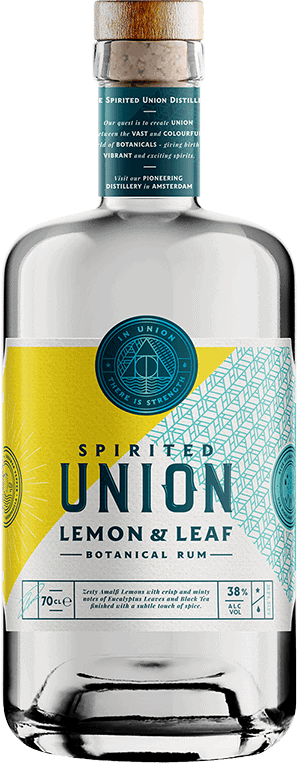 70 cl Lemon & Leaf Botanical Rum bottle from the spirited union distillery