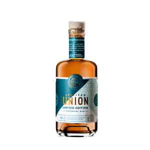 Bottle of Limited edition spice & sea salt rum from the spirited union distillery