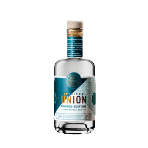 Bottle of Limited edition Lemon & leaf rum from the spirited union distillery