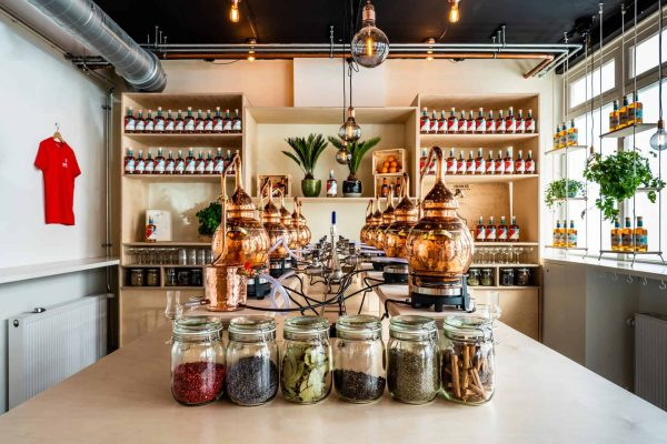 Spirited Union Distilling class with kettles and botanicals in Amsterdam