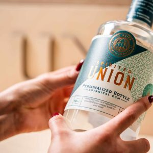 Personalized bottle of Spirited Union Distillery Botanical rum