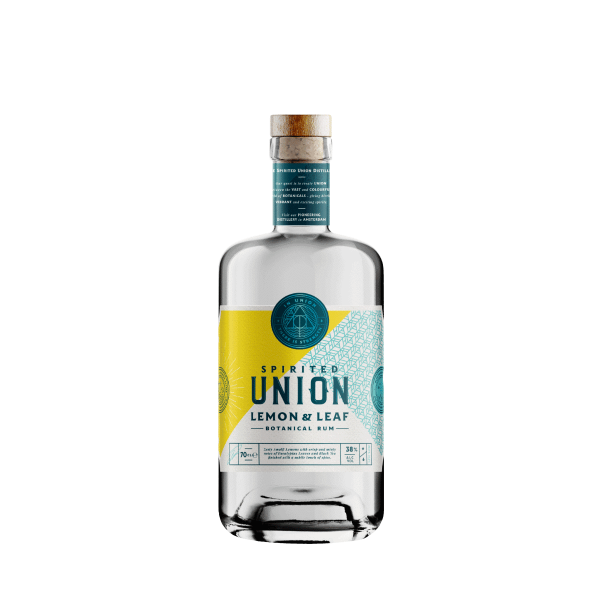 70 cl fles van spirited union lemon & leaf botanical rum
