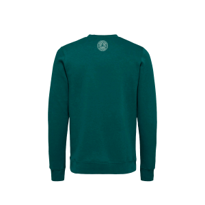 Green Spirited Union sweater with small logo on back