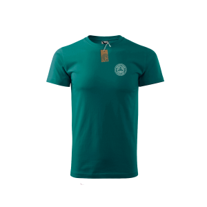 Green Spirited Union t-shirt with small logo on front