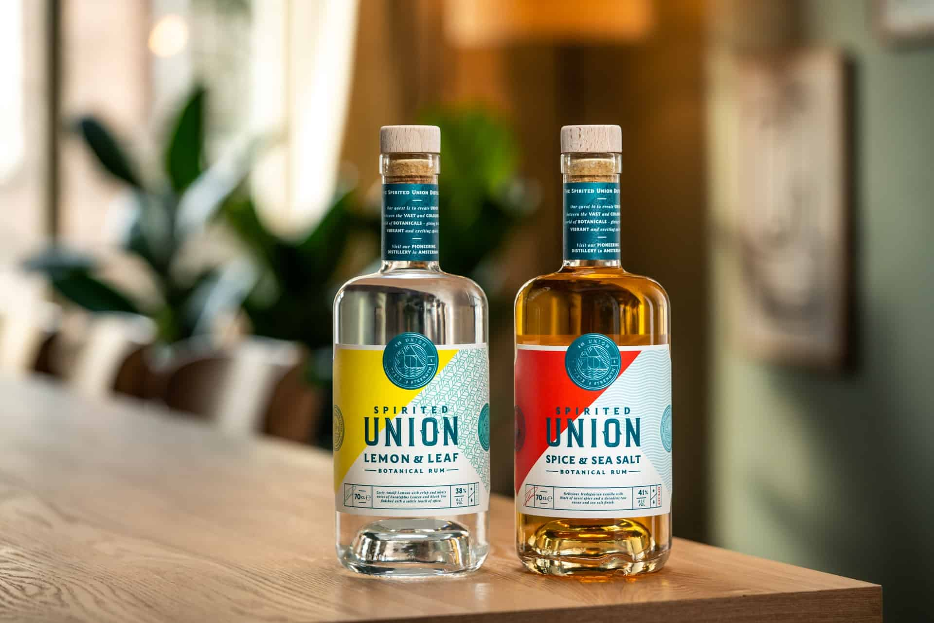 Two Bottles of Spirited Union Botanical Rum